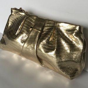 NEW Stell & Dot La Coco Clutch Gold. NWOT